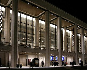 Music of New York City - The New York State Theater at Lincoln Center for the Performing Arts, home of the New York City Opera and New York City Ballet.