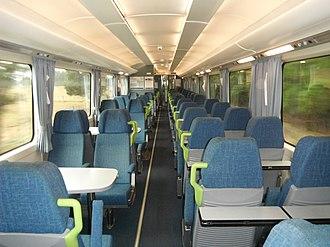 New Zealand British Rail Mark 2 carriage - Image: New Zealand BR Mk 2 carriage SW5658 interior