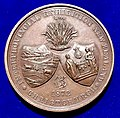 New Zealand Interprovincial Exhibition 1872 Christchurch Prize Medal, obverse.jpg