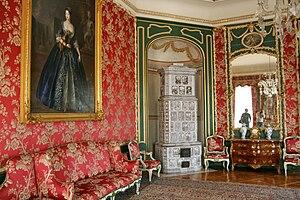 Nieborów Palace - The Red Salon