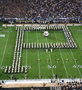 "Purdue All-American Marching Band - The oldest marching band formation, the ""Block P"""
