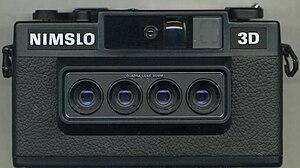 Stereo camera - Nimslo quadralens lenticular