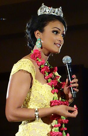 Nina Davuluri - At the International Alliance for the Prevention of AIDS (IAPA) benefit dinner, April 19, 2014