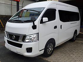 3b32c9e3c08c66 Nissan NV350 CARAVAN Microbus GX (E26) front.JPG