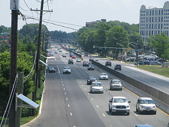 New Jersey Route 38 - Route 38 in Cherry Hill looking east