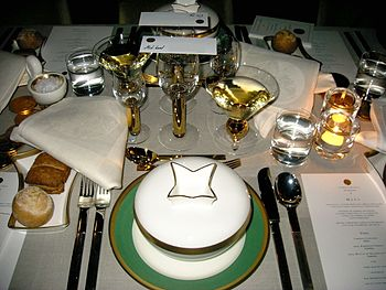 English: Student table at the Nobel Prize Banq...