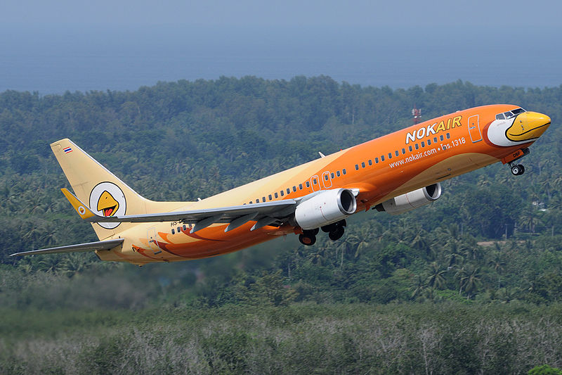 Nok Air Boeing 737-800 taking off from Phuket International Airport.jpg