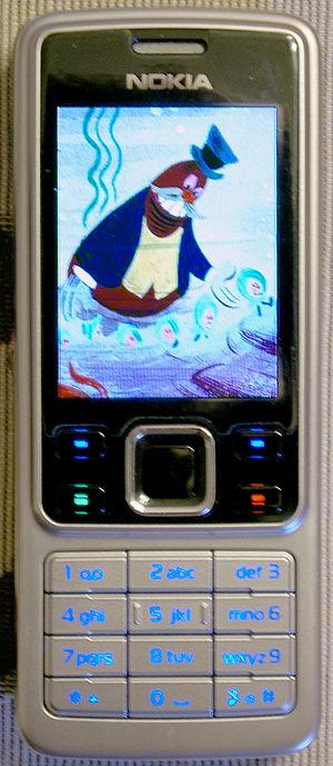 Nokia 6301 - Nokia 6301b in screensaver mode.