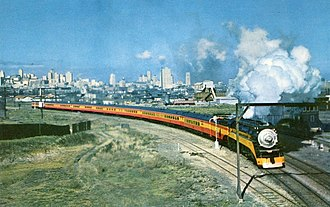 Coast Daylight - Coast Daylight departing San Francisco in 1949.