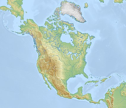 This is North America on a map