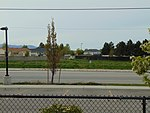 Northwest across Old Bingham Hwy from 4800 W Old Bingham Hwy station, Apr 2016.jpg