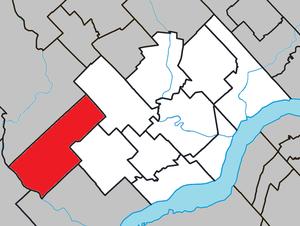 Notre-Dame-du-Mont-Carmel, Quebec - Image: Notre Dame du Mont Carmel Quebec location diagram