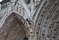 Notre-Dame Cathedral of Reims gargouille and Gothic arches.jpg