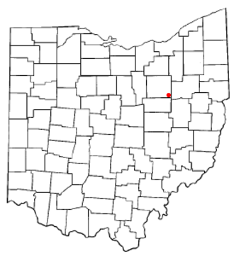 Mount Eaton, Ohio - Image: OH Map doton Mount Eaton