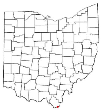 Proctorville, Ohio - Image: OH Map doton Proctorville