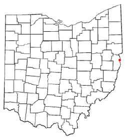Location of Toronto, Ohio