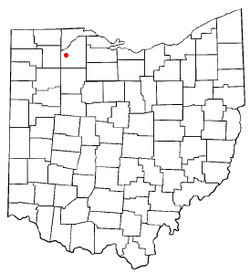Location of Weston, Ohio