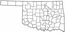 Location of Shamrock, Oklahoma