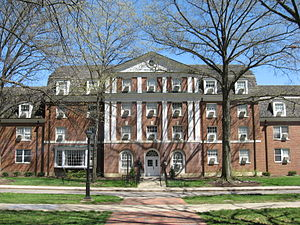 Dormitory - Gamertsfelder Hall, at Ohio University, on East Green