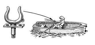 Rowlock - A rowlock on a rowing boat