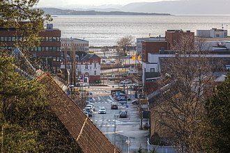 Steinkjer - Central Steinkjer in mid-April 2015