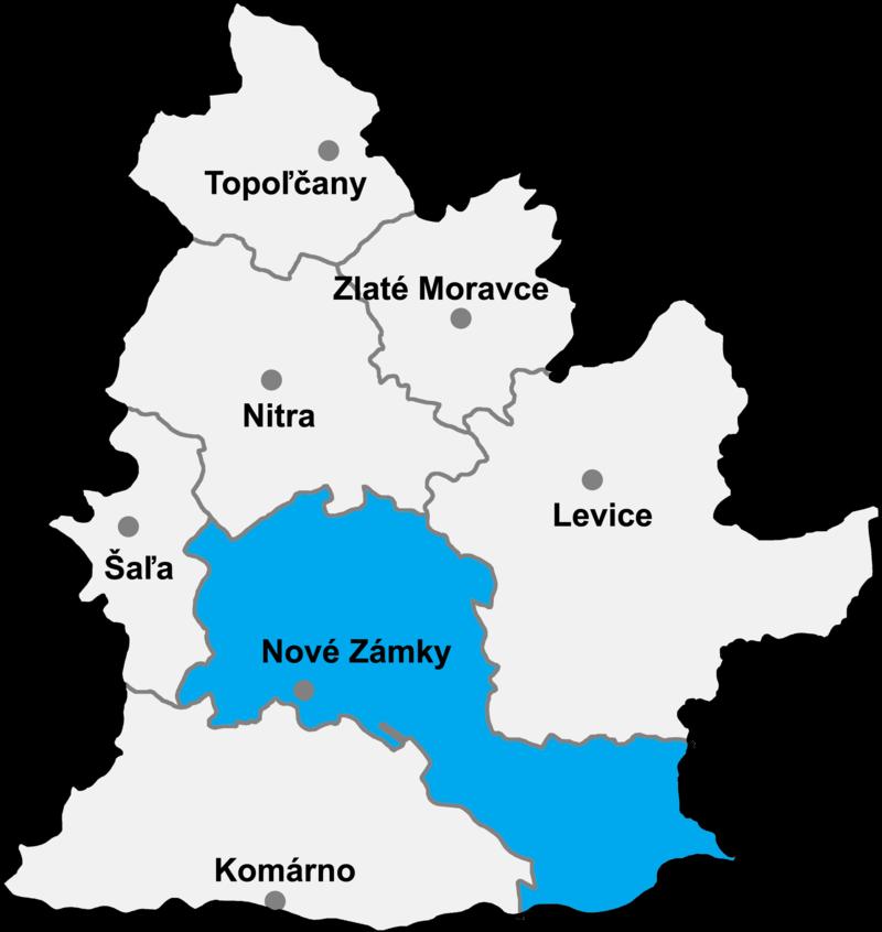 Okres Nové Zámky in der Slowakei