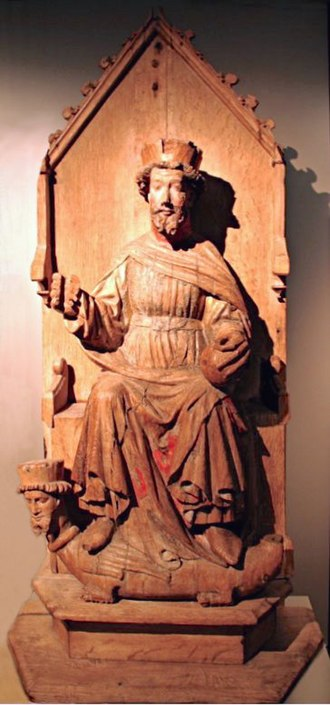 Olaf II of Norway - Statue of S. Olav at (Austevoll Church)