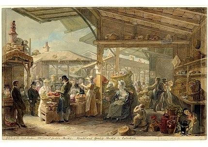 Old-Covent-Garden-Market,-1825
