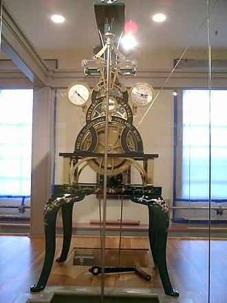 Old Main (University of Arkansas) - Clock Mechanism on display on Fourth floor of Old Main