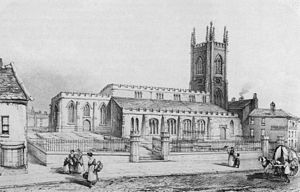 St John's Minster, Preston - Former church of St John, demolished in 1853