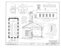 Old Unitarian Church, Second and James Streets, Geneva, Kane County, IL HABS ILL,45-GEVA,2- (sheet 1 of 1).png
