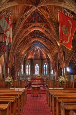 Interior of Old Saint Paul's, Wellington, New Zealand