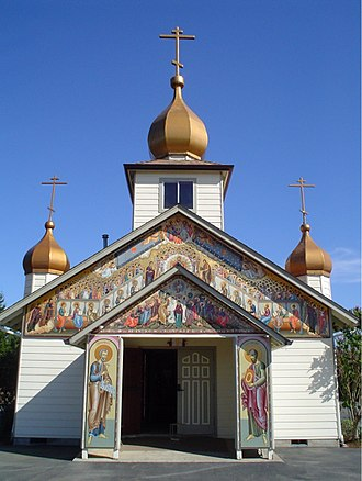 Russian Americans - Russian Old Believers church in Gervais, Oregon.