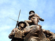 Oldham's war memorial was commissioned in 1919 to