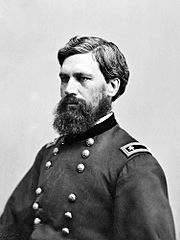 Photo of bearded man in Civil War era Major General USA uniform