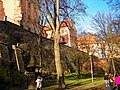 Olomouc - Park Bezručovy sady - View North on Palacký University Buildings.jpg