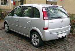 Opel Meriva 2005 Dimensioni >> Opel Meriva - Wikipedia