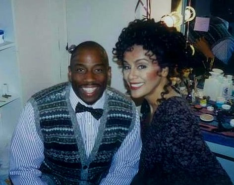 Opera star Stacey Robinson (left) with singer-actor Marilyn McCoo