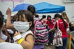 Operation Smile patients board USNS Mercy during Pacific Partnership 2015 150808-F-YW474-099.jpg