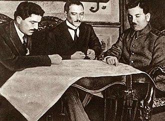 Ali Fuat Cebesoy - Image: Orbay, Atatürk and Cebesoy