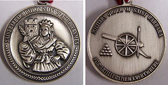 Saint Barbara - Order of Saint Barbara medallion