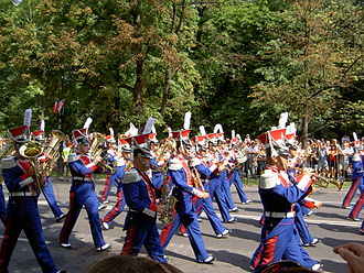 Representative Central Band of the Polish Armed Forces - The band musicians dressed in historic uniforms.