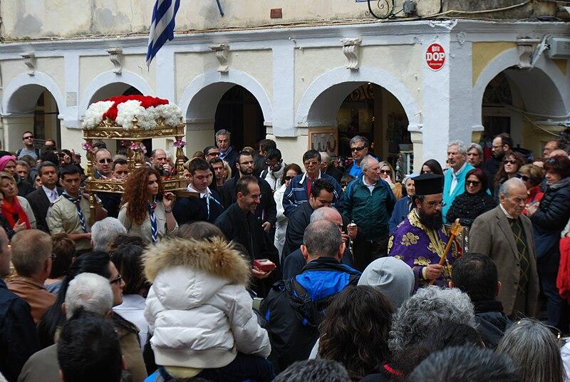 Orthodox cross procession Corfu Easter 2014.jpg