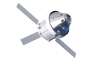 Orthographic view of Orion spacecraft, bottom-front with solar panels (23128839505).png
