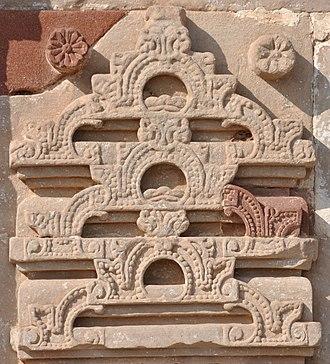 Gavaksha - Piled-up gavakshas at Osian, Jodhpur