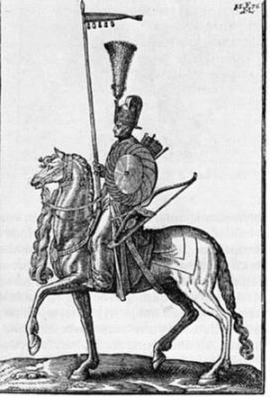 Abaza Hasan Pasha - A sixteenth-century Western depiction of a sipahi, a position in which Abaza Hasan served in his youth.