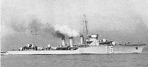 Bourrasque-class destroyer - Image: Ouragan 1