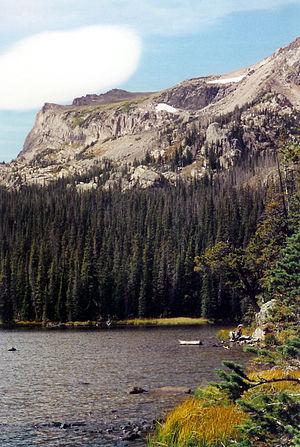 Ouzel Lake and Mahana Peak, Rocky Mountain Nat...
