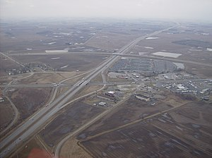 Diamond interchange - Image: Overview of West Lancaster