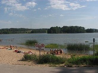 Otepää - Image: Pühajärv lake 2008